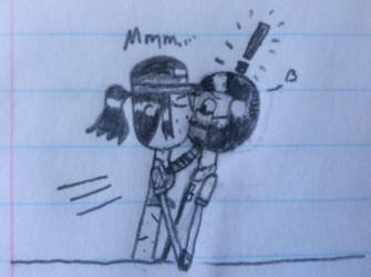 Misty kisses Marlton by LieutenantPanzer1917