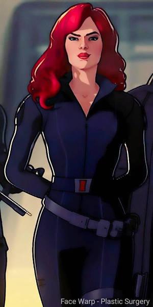 sexy smirk black widow
