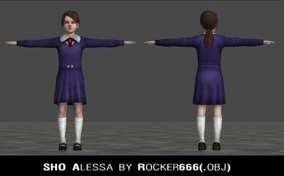 SH0 Alessa silent hill origins PS2 OBJ