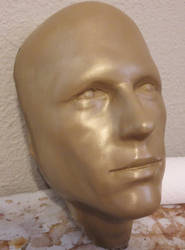 Brass cold cast android face