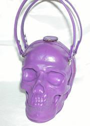 Purple Leather Skull Bag