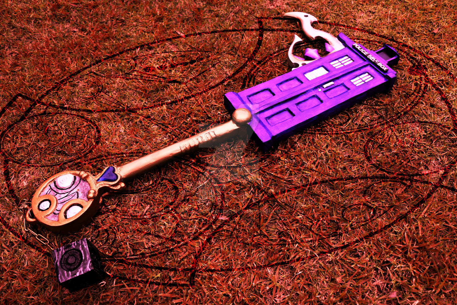 Temporal Schism 2- Doctor Who Keyblade by SoulessStranger