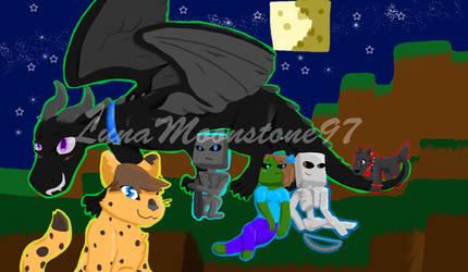 Starshine's Mob Friends by LunaMoonstone97
