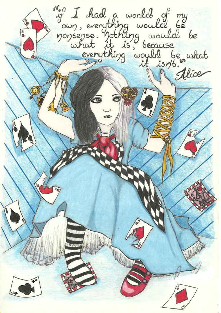 Gothic Alice in Wonderland by mlatimerridley