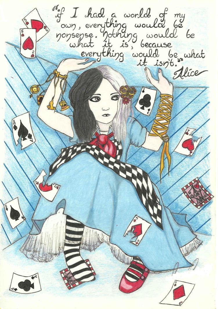 Gothic Alice in Wonderland by mlatimerridley