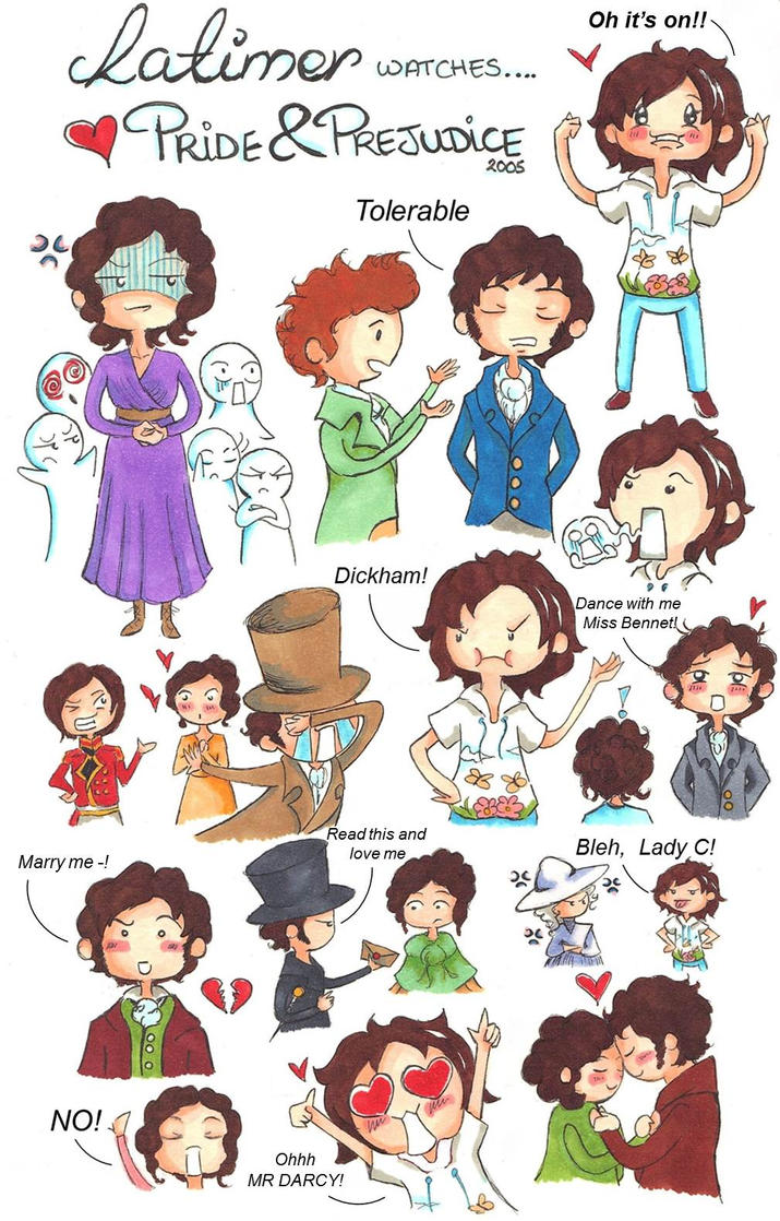 Cartoon Characters 2005 : Latimer watches pride and prejudice by
