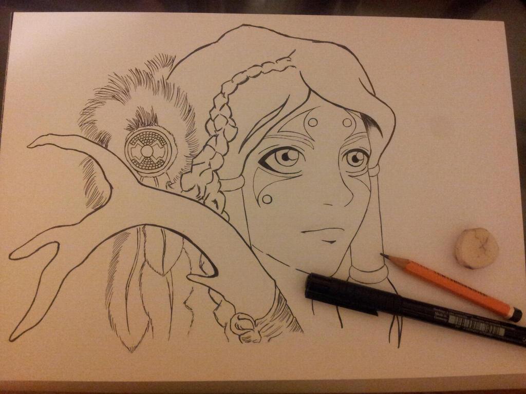 Avatar Korra by mlatimerridley