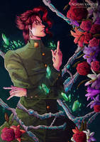 Kakyoin flowers by LestatHallwardHolmes