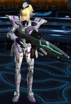 Tetsuko - My PSO2 character design (with weapon)