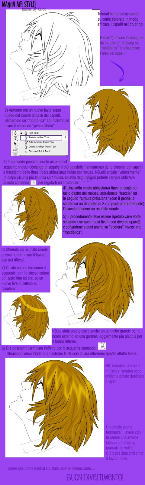 Manga Hair Style by xaide89