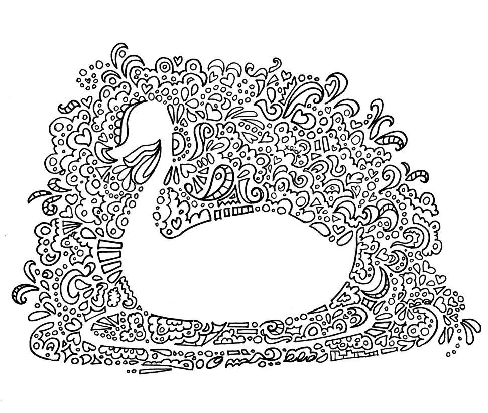 Mandala Swan by xaide89