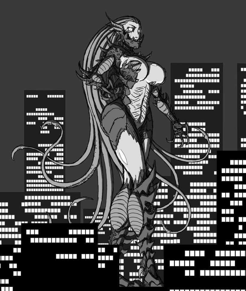 Kaiju Lady by CorruptKING