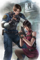 Resident Evil 2- Leon and Ada