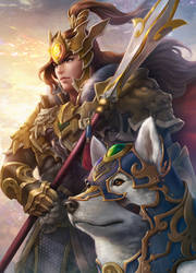Erlang Shen warrior by JohnLaw82