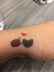 Ladybug and Cat noir Tattoo