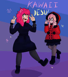Friends being weebs by Ovline