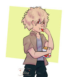 Bakugou eating peppers by Ovline