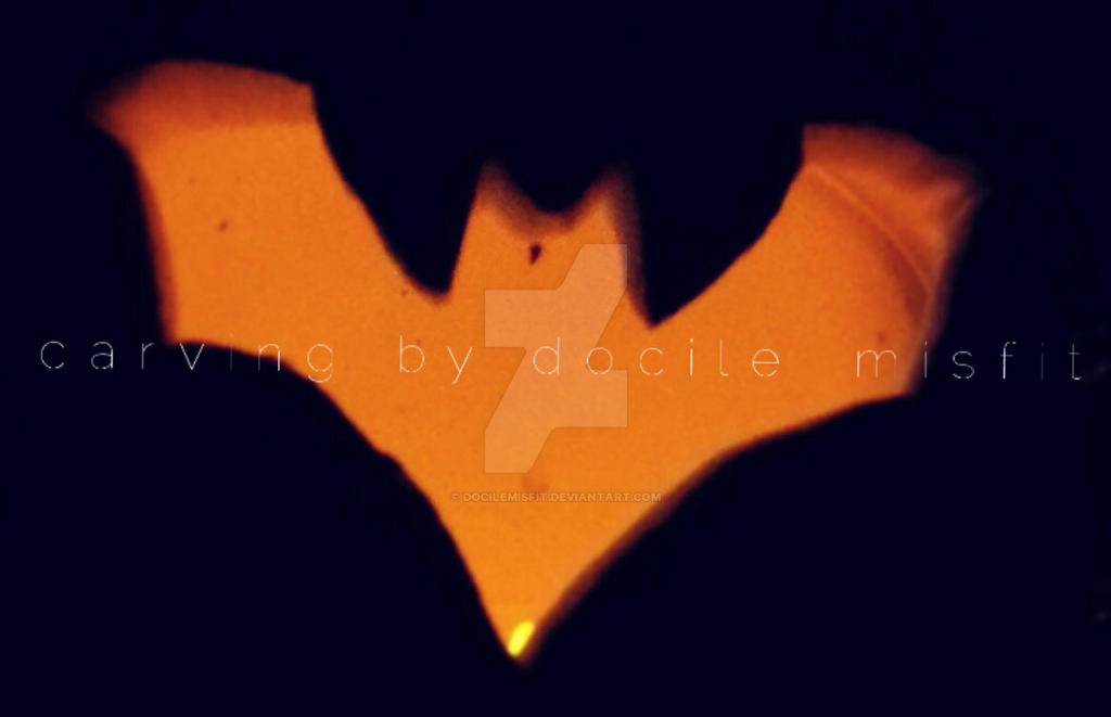 Pumpkin Batman Symbol By Docilemisfit On Deviantart