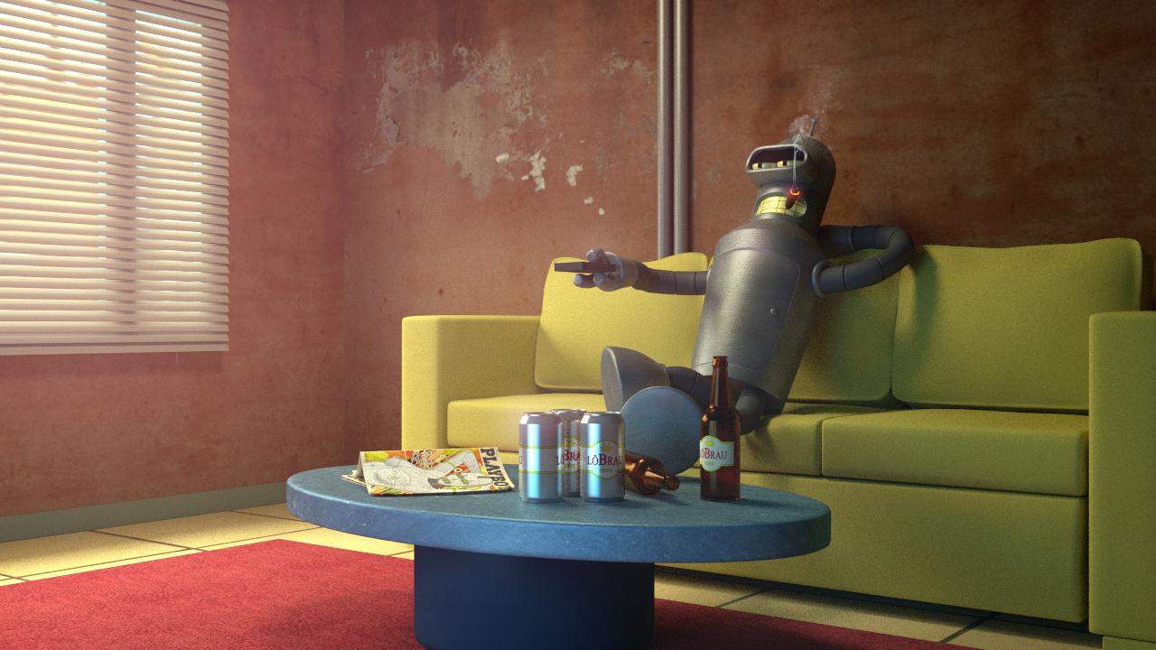 """Bender """"Working"""" by JoshMaule"""