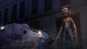 Wolverine vs. Sentinel by JoshMaule