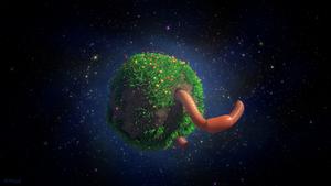 Big Worm, Tiny Planet by JoshMaule