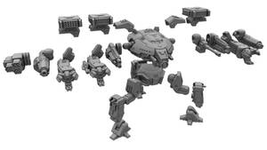 Battletech Miniature: Ares All Parts