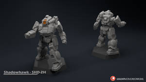 Shadowhawk - SHD-2H Miniature sculpt by Sentinel373