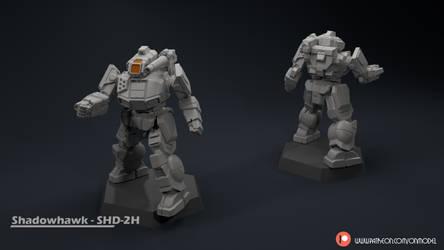 Shadowhawk - SHD-2H Miniature sculpt