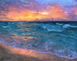 Sea as the Sun goes down