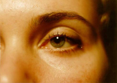 Beautiful eye and tear