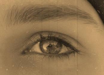 The same eye - in sepia