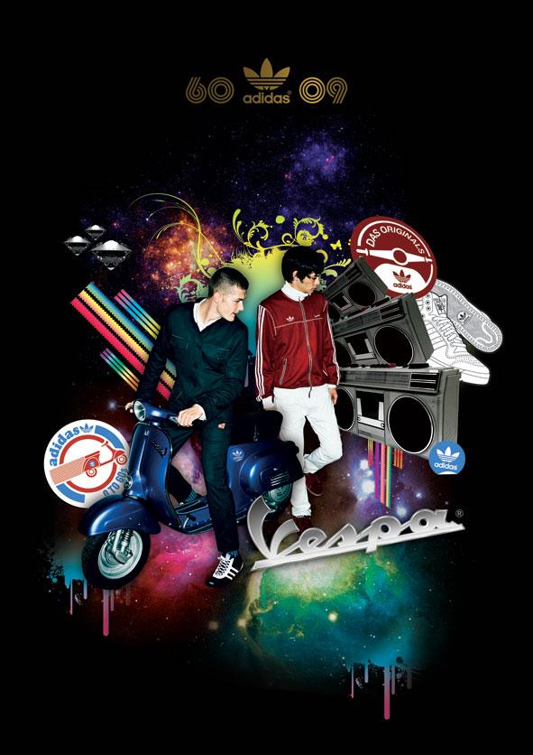 Adidas Vespa Poster by ujie