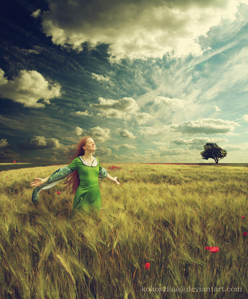 feel the wind .... by BaxiaArt