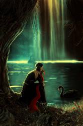 black swan by BaxiaArt
