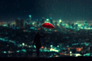 to Catch the rain by BaxiaArt