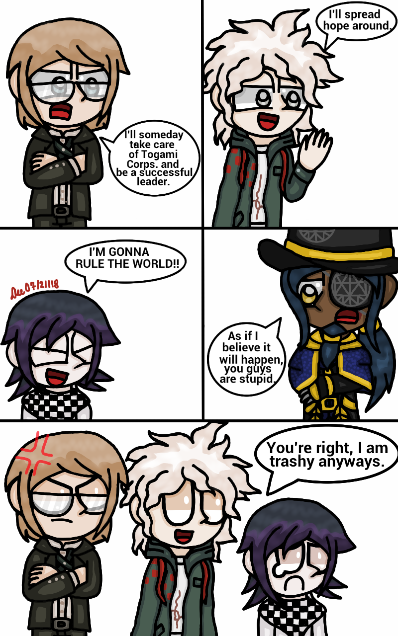 Danganronpa - Hideaki and the Anti-Heroes