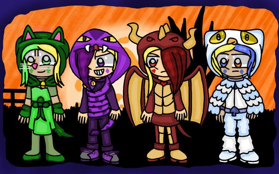 Flipline - 4 decks of Game Halloween