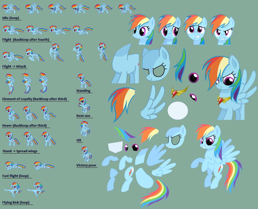 Rainbow Dash sprite sheet by StalinTheStallion