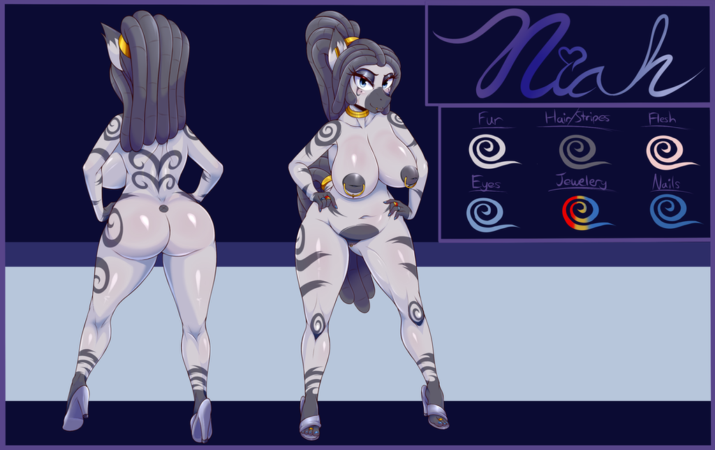 [Commission] Niah character art by FlameLoneWolf