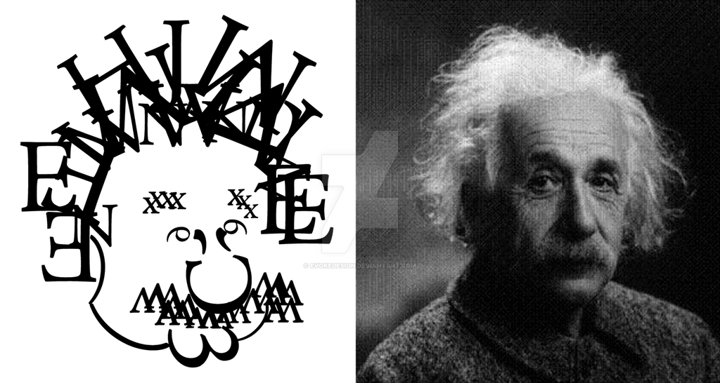 Typographic Einstein by EvokeDesign