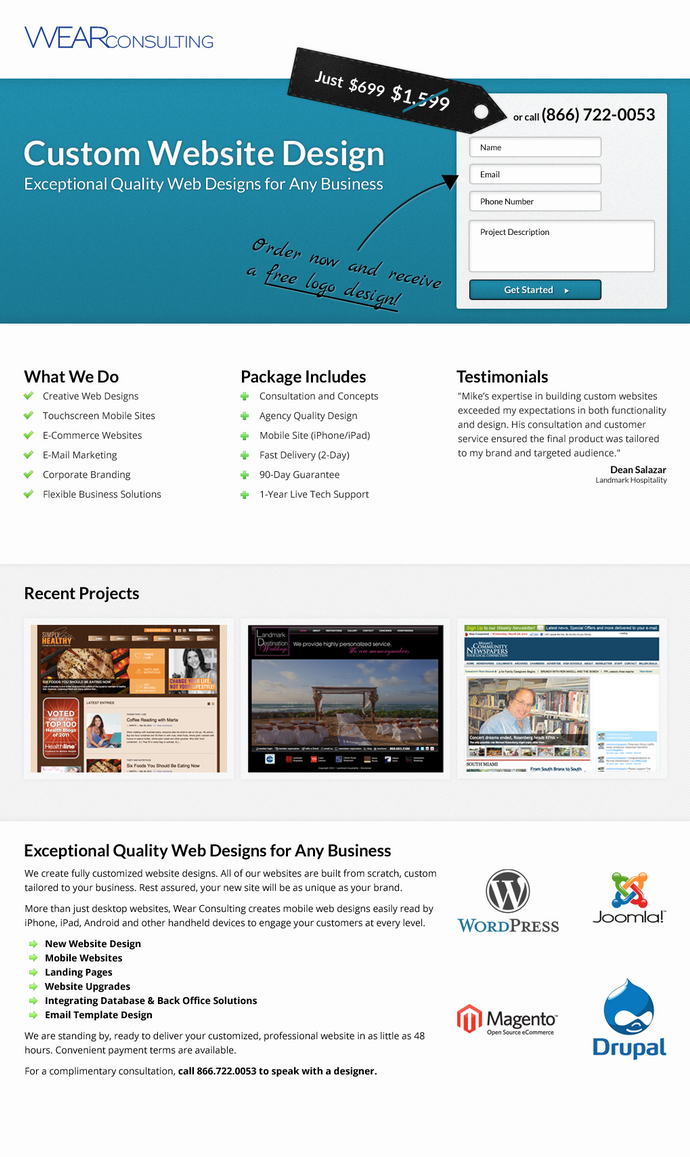 Wear Consulting Landing Page by pixelter