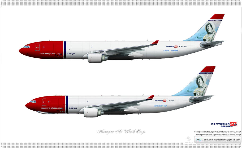 Norwegian Air Shuttle Cargo Livery Concept By