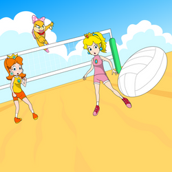 Volleyball with Wendy, Daisy, and Peach