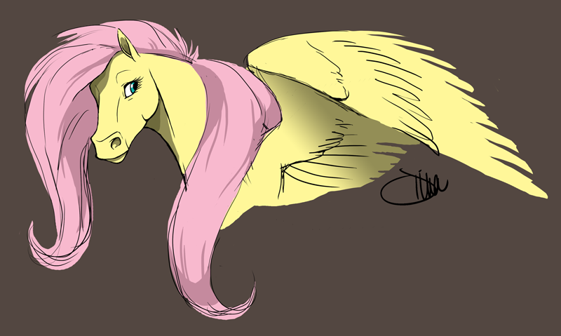 Fluttershy -my style- by goldhound