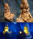 Shaman King: Shamash Clay Sculpture by ArianeTatsu
