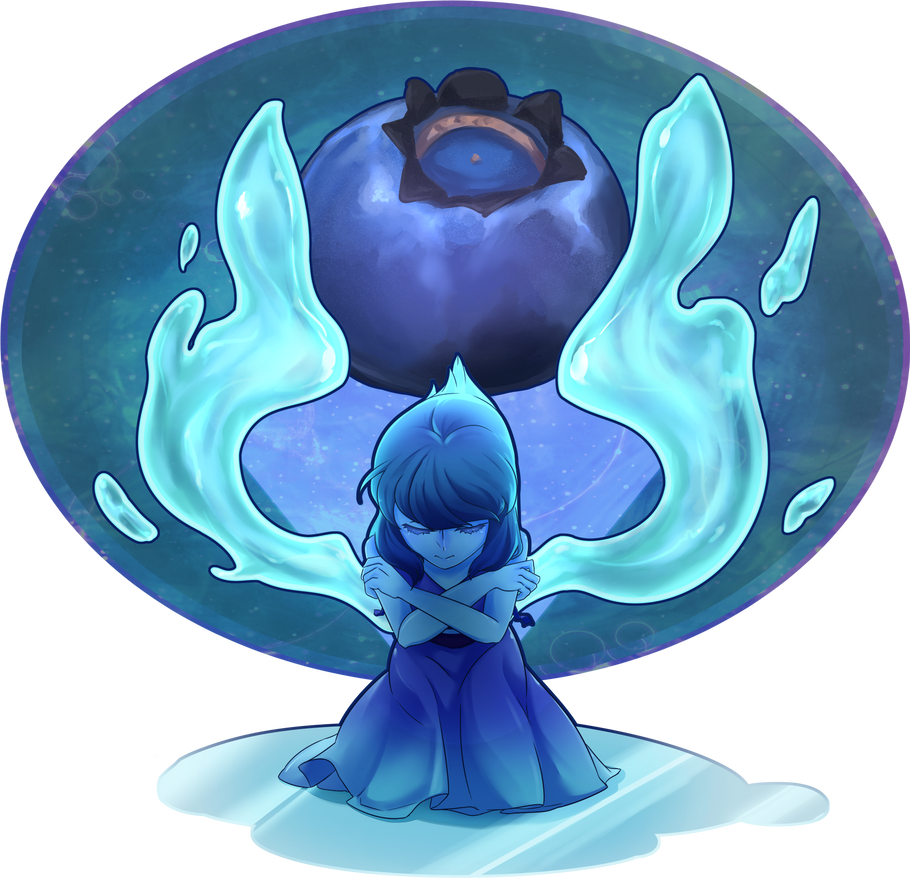 Check out my Tumblr : VIA The background texture comes from [Pixiv id=43437967] Please support the author. I has been saving the blueberry for Lapis . It would be Amethyst's fruit if there are more...