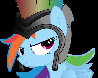 Rainbow Dash - Battle hardened by Eisluk
