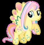 Flutter Shy - Double rainbowed
