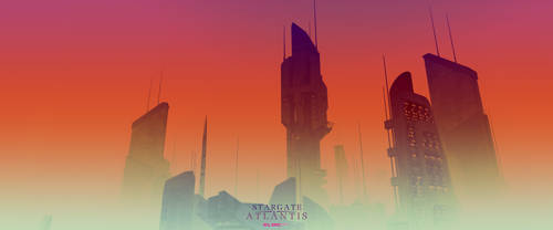 Red sunshine on Atlantis by Elric957