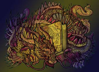 Bookwyrm Lineart By Rachaelm5-d4n1vyk by triumf500